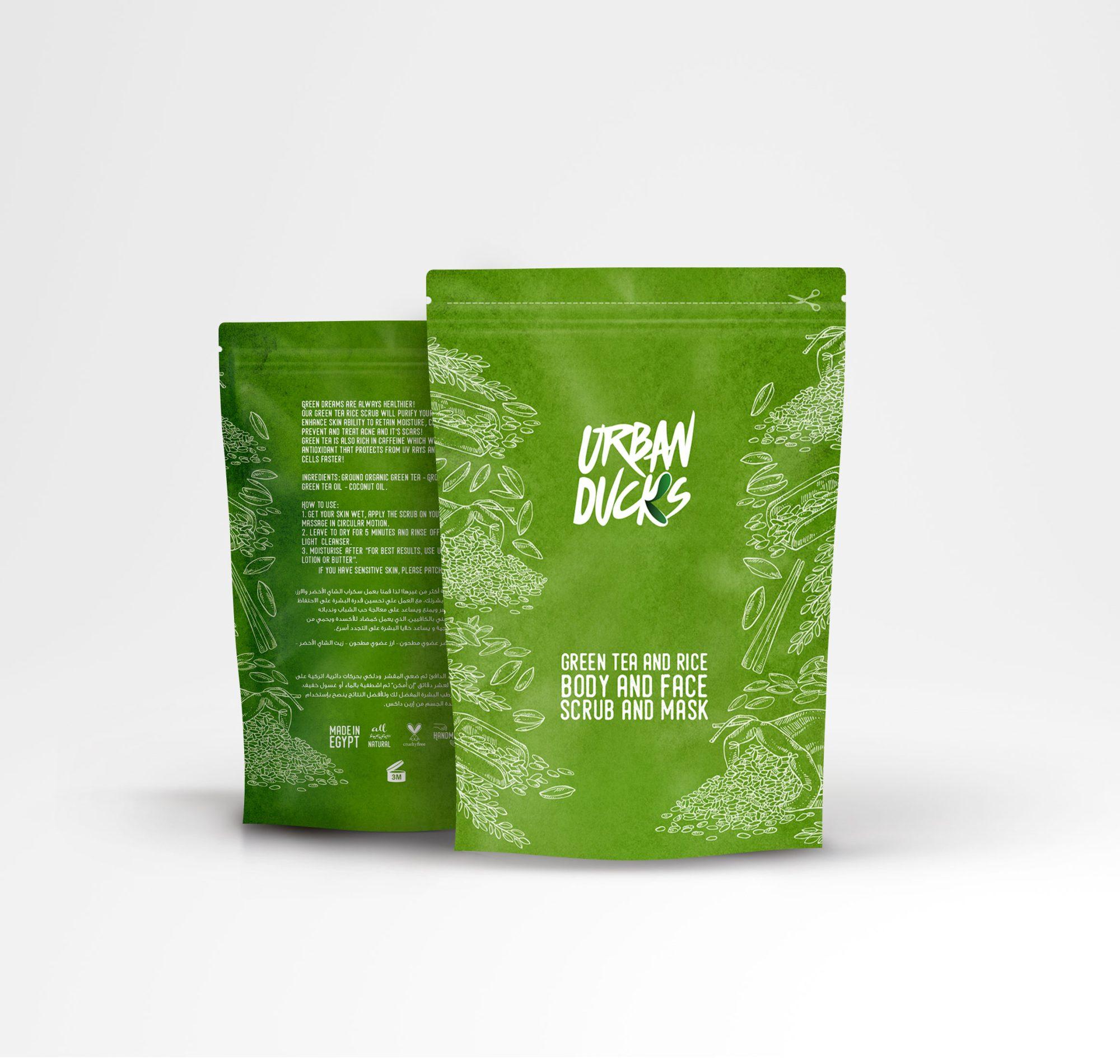 Green Tea & Rice Face Mask And Body Scrub