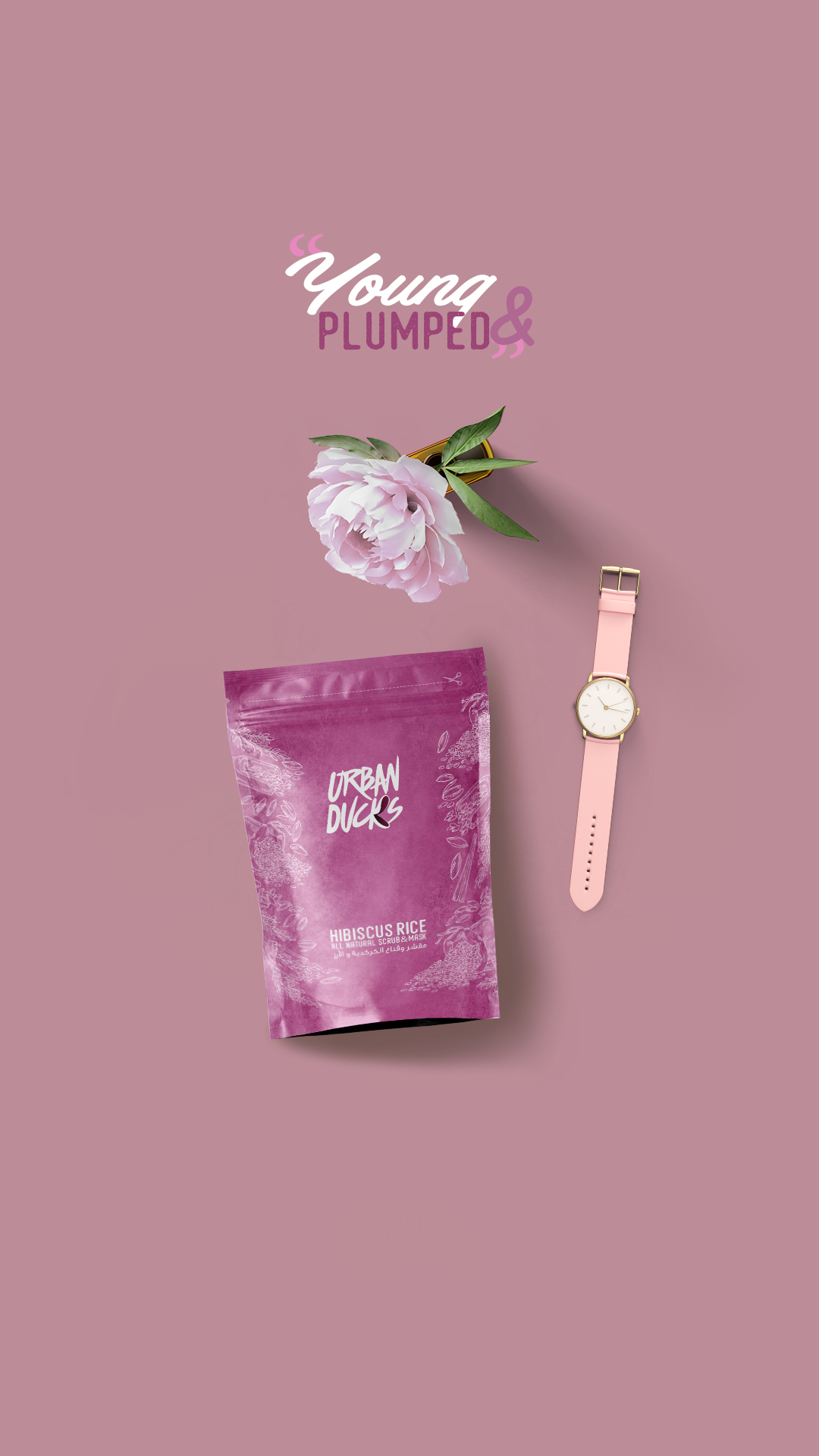Hibiscus & Rice Face Mask And Body Scrub